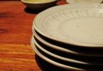 レンコンをのせる予定の皿