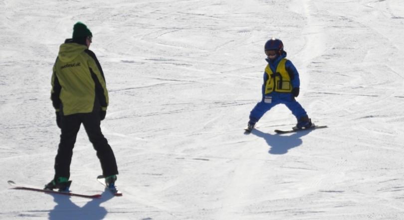 親子でスキー