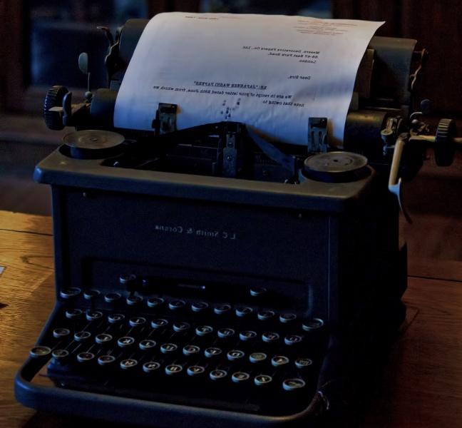 タイプライターで名前を変えるテスト