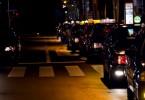 夜のタクシー