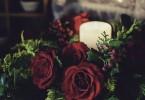 薔薇のキャンドルアレンジメント