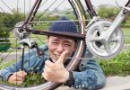自転車のタイヤとその持ち主
