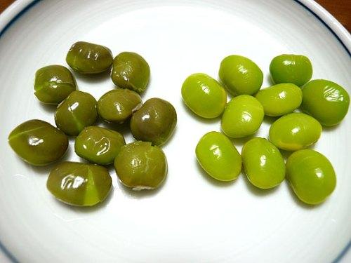 だたちゃ豆と普通の枝豆