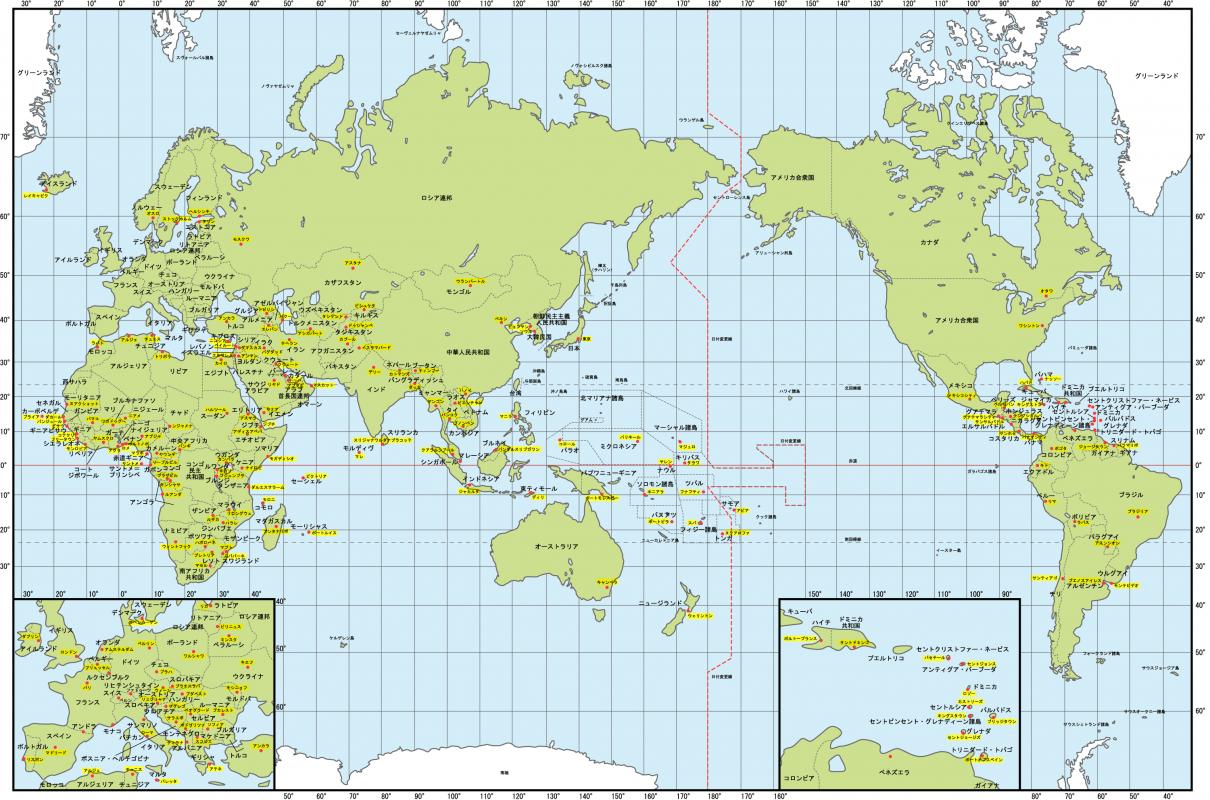 日本の世界地図