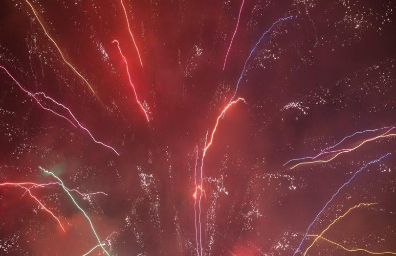 いろんな色の花火