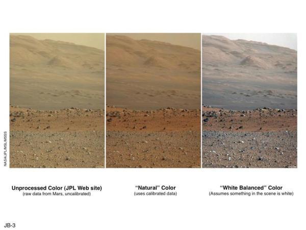 火星写真NASA比較