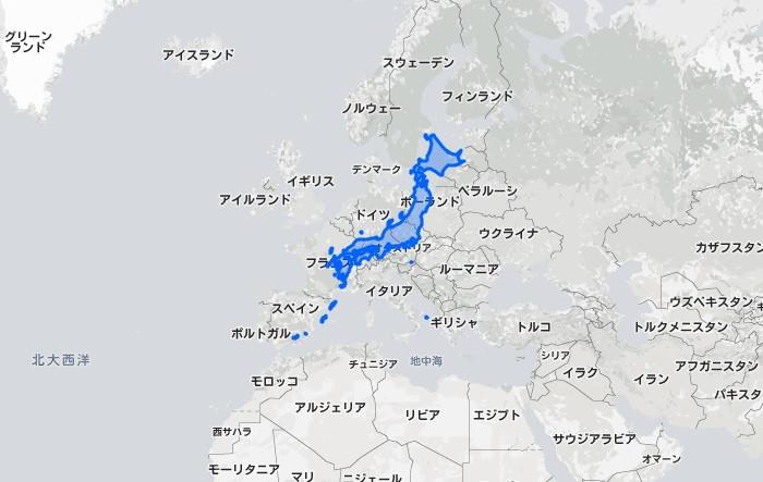 日本の本当の大きさ