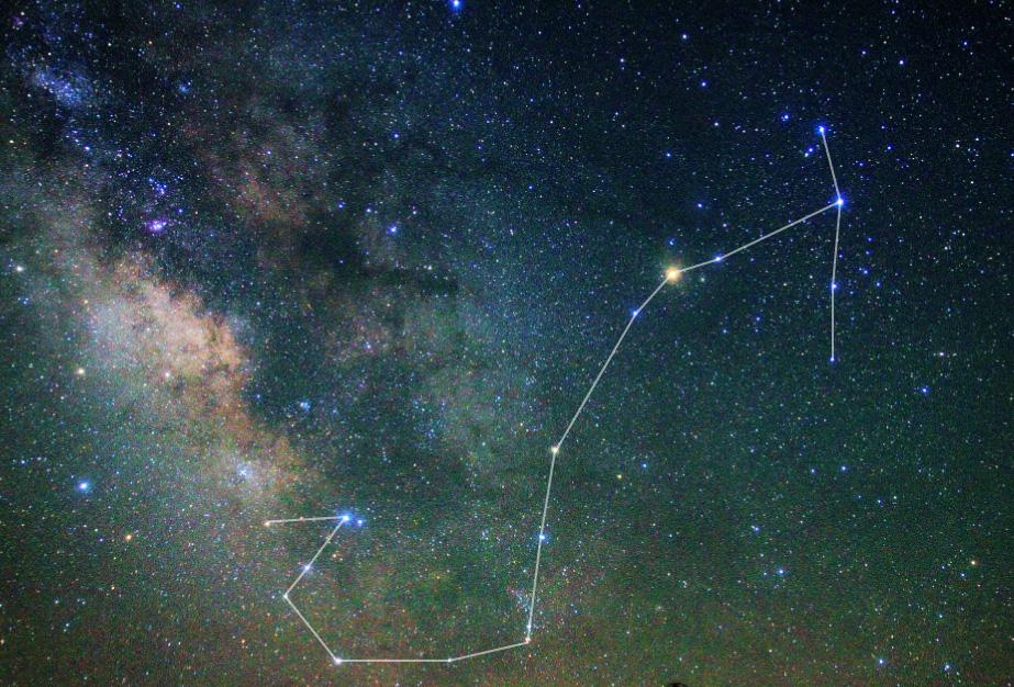 さそり座星図線